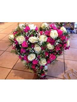 Coeur rose foncé