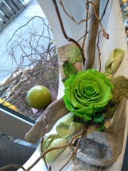 Rose stabilisée verte