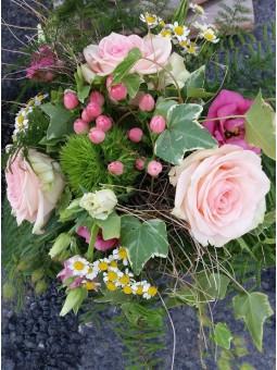Bouquet pastel camaïeu