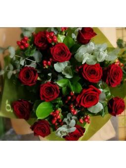 Bouquet petites roses rouges
