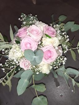 Bouquet pastel rose et blanc