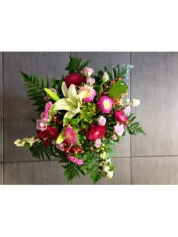 Bouquet pastel rouge