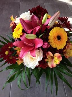 Bouquet aux couleurs fortes
