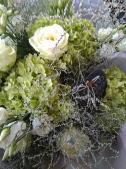 Bouquet pastel blanc uni
