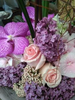 Bouquet pastel violet