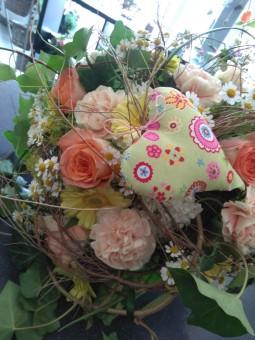 Bouquet coloré cœur