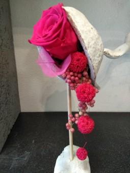 Rose stabilisée rose