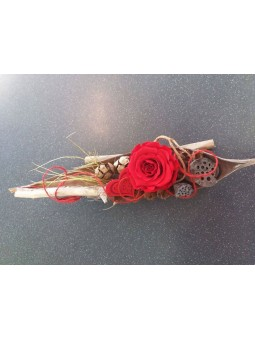 Rose stabilisée horizontal