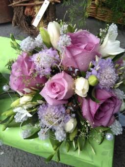 Bouquet de mariée violet