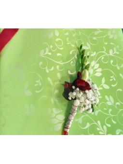 Boutonnière rouge et blanc