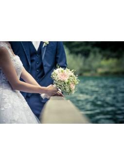 Bouquet de mariée balanc et...