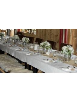 Arrangement de table BLANC