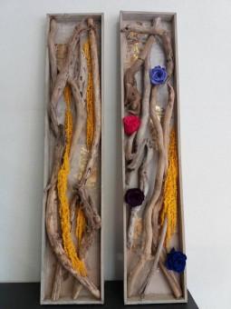 Tableaux au bois flotté