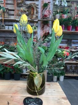 Tulipe avec décoration