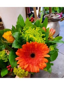 Bouquet Gerbera orange
