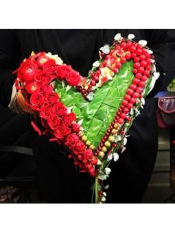 Bouquet de mariée cœur
